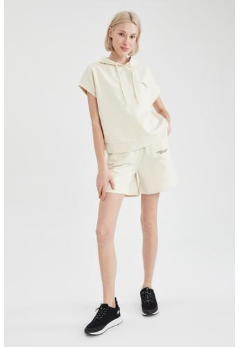 DeFacto beige Sporty Cotton Short 0050FAAF7DAFA9GS_1