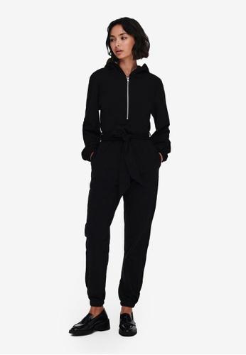 JACQUELINE DE YONG black Denise Life Long Sleeves Jumpsuit 91EAFAA94AD232GS_1
