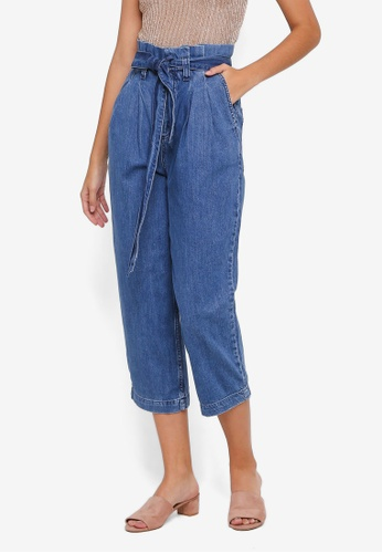 TOPSHOP blue Paperbag Jeans 5D27FAAA404A4EGS_1