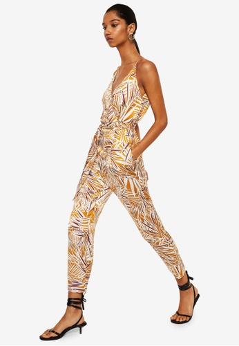 Mango orange Long Printed Jumpsuit 3E618AA41CCA51GS_1