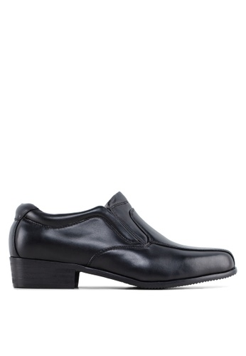 Louis Cuppers black PU Leather Dress Shoes LO977SH03ZVOMY_1