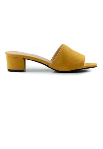 SHINE yellow SHINE Slip On Peep Toe Heels 44DEDSH5ED07A3GS_1