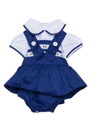 RAISING LITTLE blue Cassandra Bloomers Set 0B6D6KA878F360GS_1