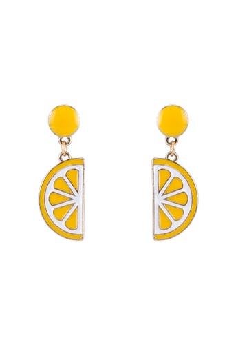 Saturation yellow Lemon Felon Earrings SA407AC0SRVWMY_1