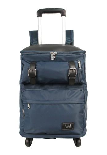 ELLE navy Elle Backpack Trolley 83925 - Blue E8128AC2B1744BGS_1