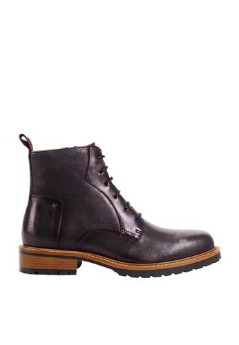Twenty Eight Shoes brown Vintage Leather Brogue Boot 017-5 703FASHB9F3EAFGS_1