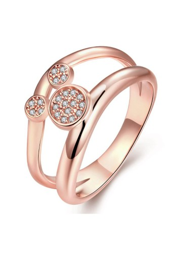 Tiaria pink Tiaria Gold Plated Ring Casual Party KZCR259-B-7--K09 336AAACC70FF98GS_1