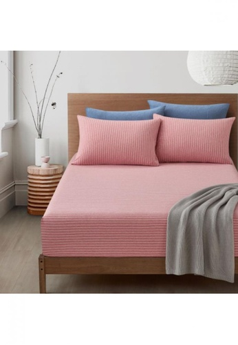 Bedding Day pink Bedding Day Jersey Cotton 800TC Fitted Sheet Set - Malka (Pink) 47214HL1FB4CAEGS_1
