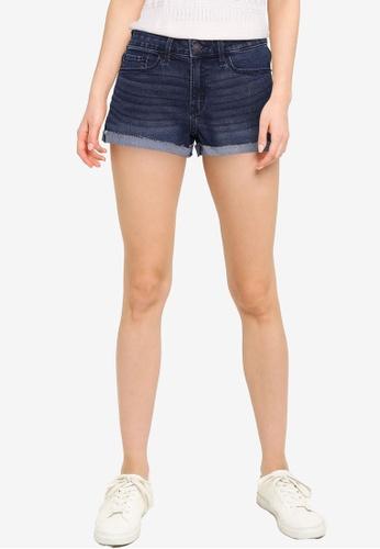 Abercrombie & Fitch blue Core Rise Denim Shorts 8F2B3AA80CDD5BGS_1