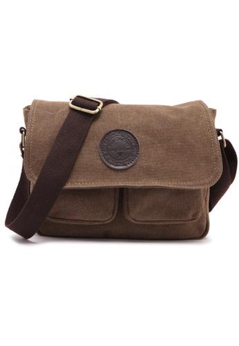 Jackbox brown XBD Retro Cotton Canvas Bag Shoulder Messenger Satchel Handbag 303 JA762AC16XZVMY_1