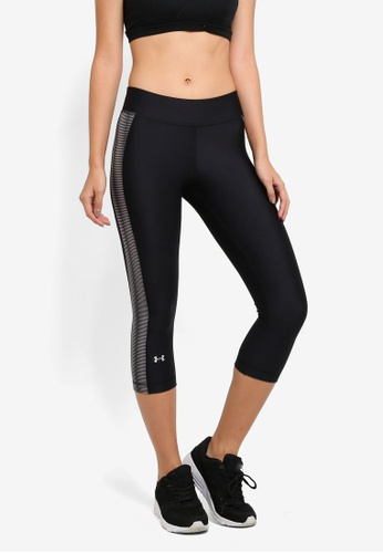 Under Armour black Armour Novelty  Capris UN337AA0SU4NMY_1