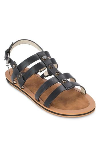 鉚釘繞踝涼鞋,esprit 衣服 女鞋, 涼鞋