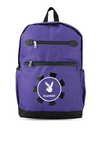 Playboy purple Casual Backpack PL371AC0RX56MY_1