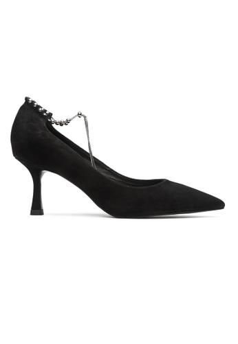 Byford black Geneva Chain Ankle Strap Heels F39EASHBBFF408GS_1