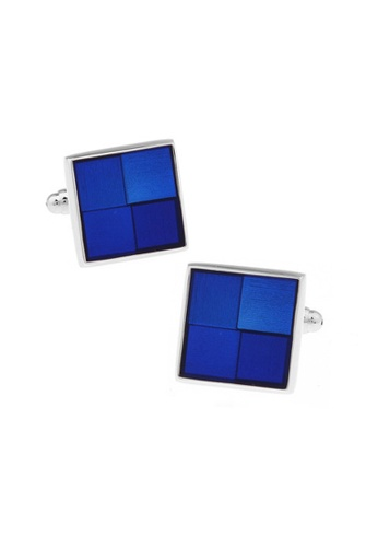 Kings Collection blue Blue Square Cufflinks (KC20327) 0A047AC6B84B1EGS_1