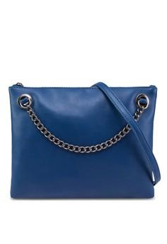 Chain Details Zip-Top Slingbag