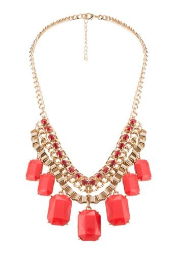 Marquis 壓克力zalora taiwan 時尚購物網鞋子珠寶垂墜項鍊, 飾品配件, 項鍊