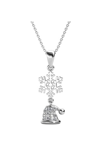 Her Jewellery silver Snowy Santa Pendant WG - Kalung Crystal Swarovski by Her Jewellery 4524CACF308746GS_1