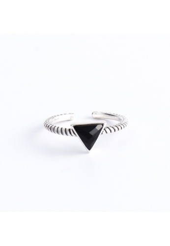 OrBeing white Premium S925 Sliver Geometric Ring 64135ACEDAB802GS_1