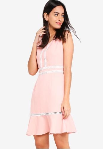 ZALORA pink Flare Hem Dress D51A3AABB6339EGS_1