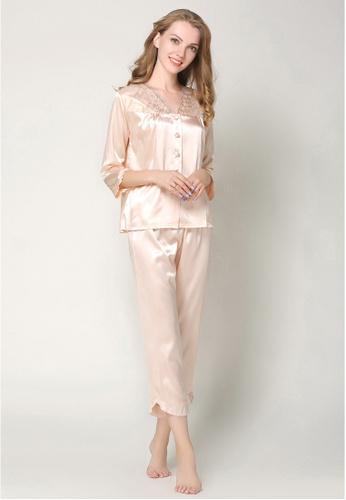 757b4683d3 Buy SMROCCO Silk Long Sleeve Long Pants Pyjamas Set L7019-CAM Online ...