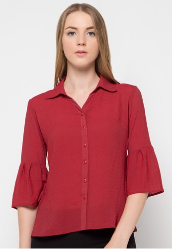 WHITEMODE red Audrina Shirt WH193AA43UOEID_1