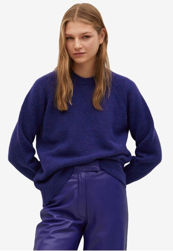 Mango blue Oversize Knit Sweater A89E3AA96AD797GS_1