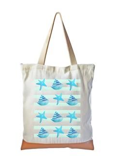 Tote Bag Starfish x Boat Pattern