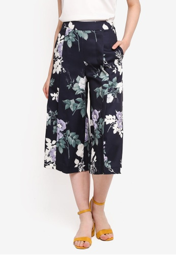 MDSCollections multi Hyacinth Pleated Pants In Midnight Floral 27804AAB7BC03BGS_1