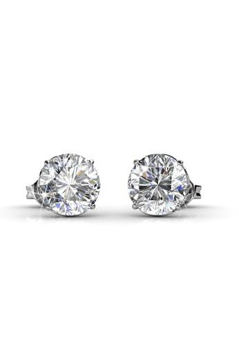 Her Jewellery silver Kristine Earrings - Licensed Genuine Crystals from Swarovski® HE581AC0RDGKMY_1