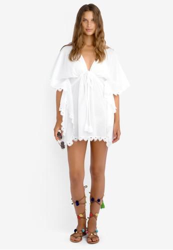 鉤esprit官網針邊飾沙灘連身裙, 服飾, 泳裝及沙灘造型