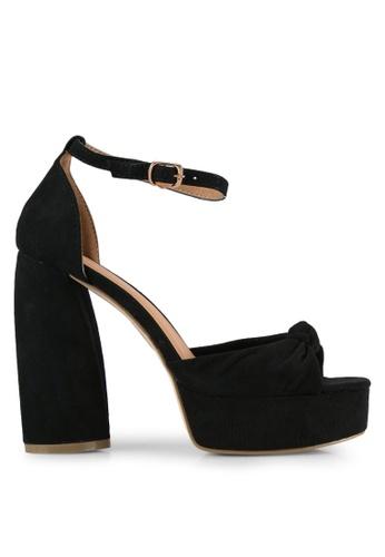 Public Desire black Backbite Knotted Platform Curved Heels PU378SH0S9NXMY_1