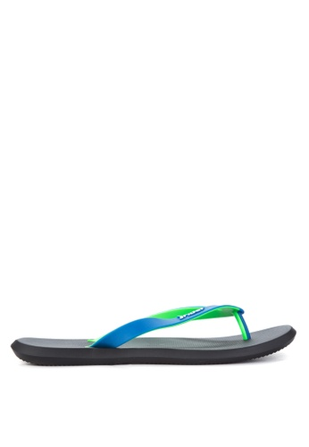 Rider black and green and blue R1 AD Flip Flops RI584SH82OZHPH_1