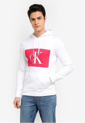 Calvin Klein white Regular Hoodie - Calvin Klein Jeans E2C12AAF9E03E6GS_1