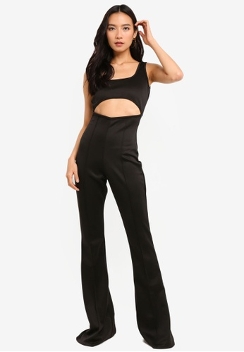 55364d21d23 Shop MISSGUIDED Cut Out Square Neck Flare Leg Jumpsuit Online on ZALORA  Philippines