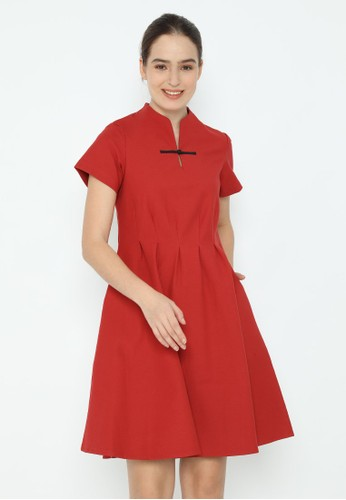 Veyl red Chan Dress Cheongsam 67F64AADBA7FF9GS_1