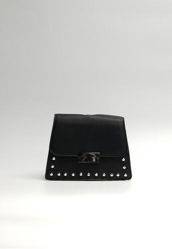 Lara black Women's Top Flap Sling Bag 07D48AC7897FEFGS_1