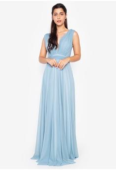 c471e90c80c0c Tantease blue Isabel Long Dress 350A6AAEBB3941GS_1