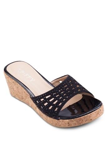 閃飾寬帶楔形涼esprit 台北鞋, 女鞋, 鞋