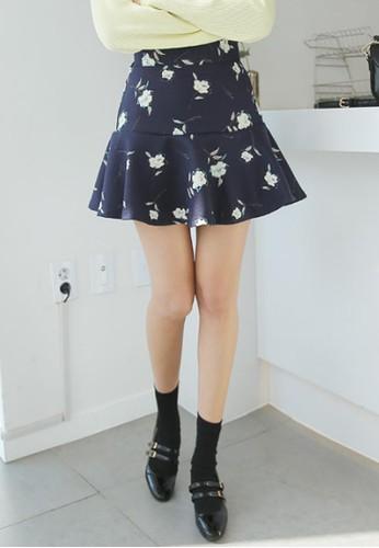 印花喇叭短裙,esprit台灣網頁 服飾, 裙子