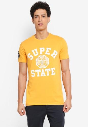 Superdry 金色 短袖印花T恤 362D4AA183ED03GS_1