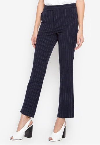 Fatima Beltran Clothing Line blue Flared Striped Pants 3D840AAA639EE9GS_1