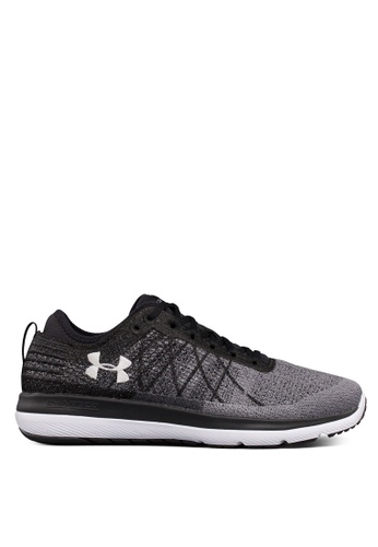 Under Armour black and grey UA Threadborne Fortis Shoes UN337SH0S2DAMY_1