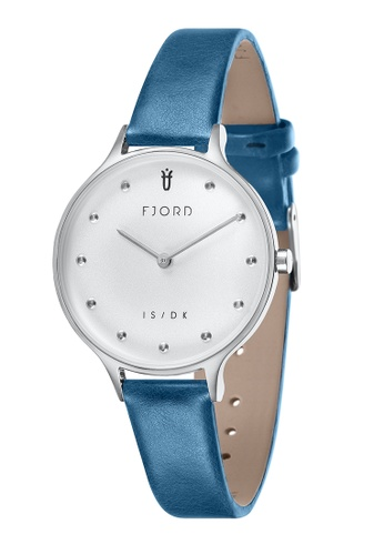 Fjord blue Fjord Women's Genuine Leather Watch - FJ-6039-02 AC148AC1AE9CB3GS_1