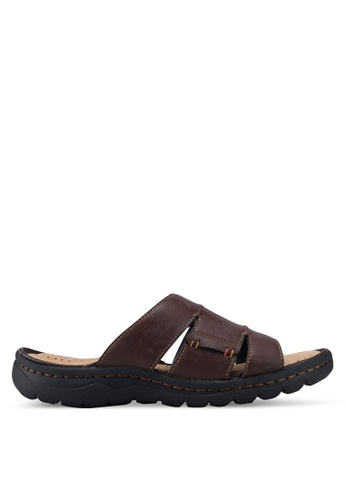 Bata brown Cutout Strap Sandals AB310SH74F47D6GS_1