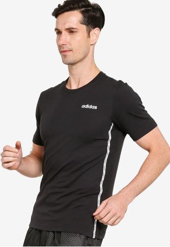 ADIDAS black adidas mens essential material mix tee 2213DAA38D86B8GS_1