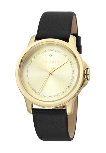 Esprit gold ESPRIT [Bout] 36mm Black Leather Strap Women Watch [ES1L147L0025] C255FAC7786A5FGS_1