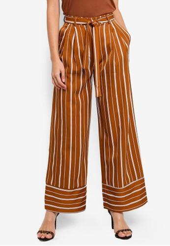 009f03ccff Buy NA-KD Tie Waist Striped Wide Pants Online   ZALORA Malaysia