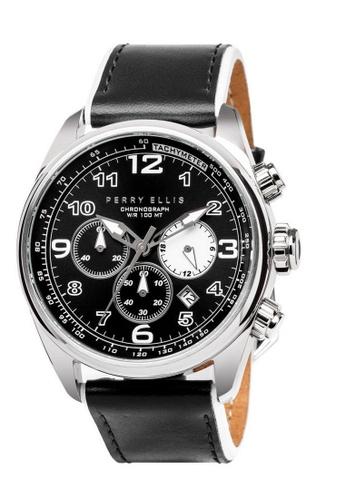 PERRY ELLIS black Perry Ellis GT Men Chronograph 44mm Quartz Watch 01002-01 CBD22ACFF0832EGS_1