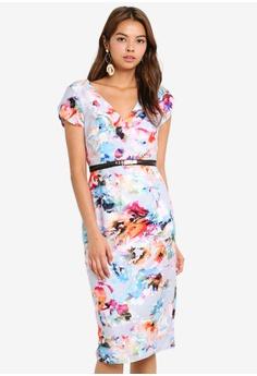 0c23ba7e71e1 Little Mistress grey Blur Print Bodycon Dress 28FB5AA0E71A02GS_1